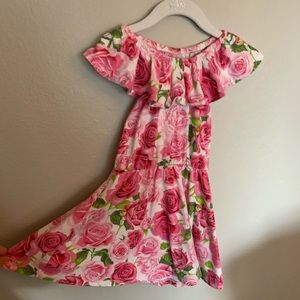 The children's place pink floral dress